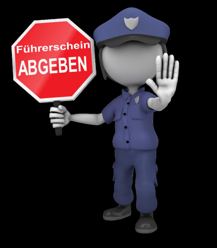 Bei nicht Teilnahme des ASF Seminar wird der Führerschein von der Behörde eingezogen